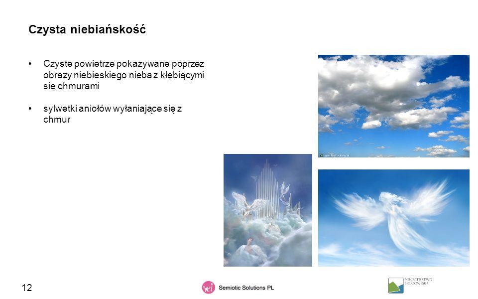 Czysta niebiańskość Czyste powietrze pokazywane poprzez obrazy niebieskiego nieba z kłębiącymi się chmurami.