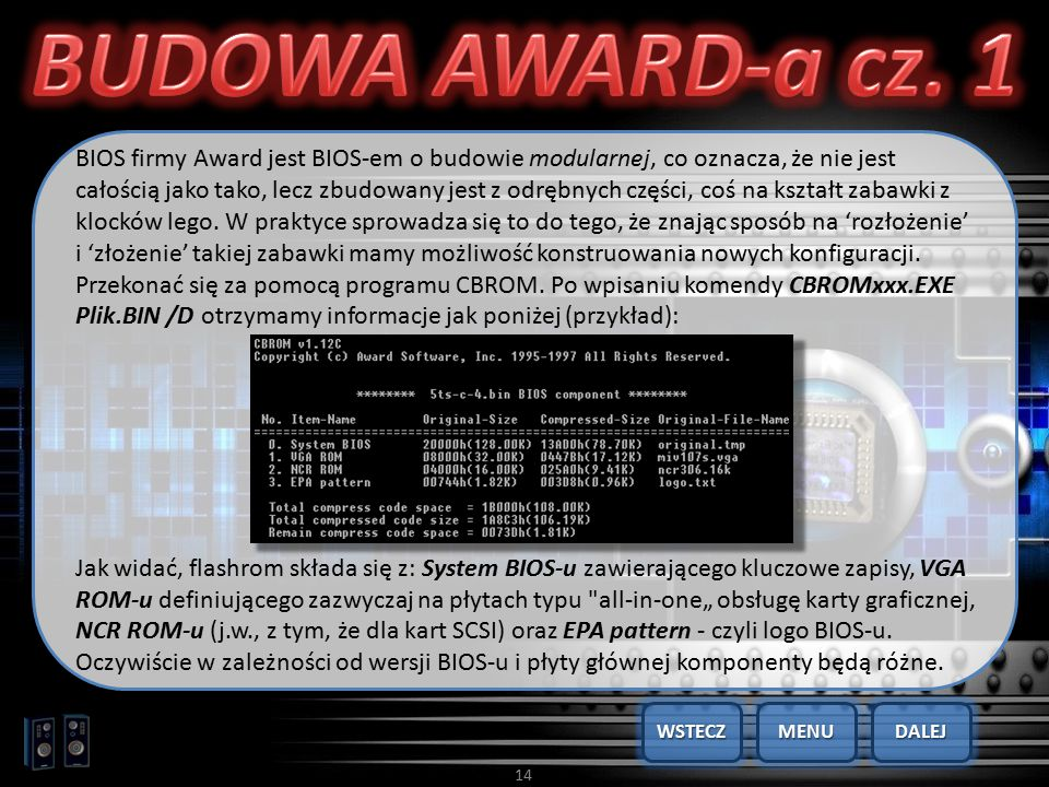 BUDOWA AWARD-a cz. 1