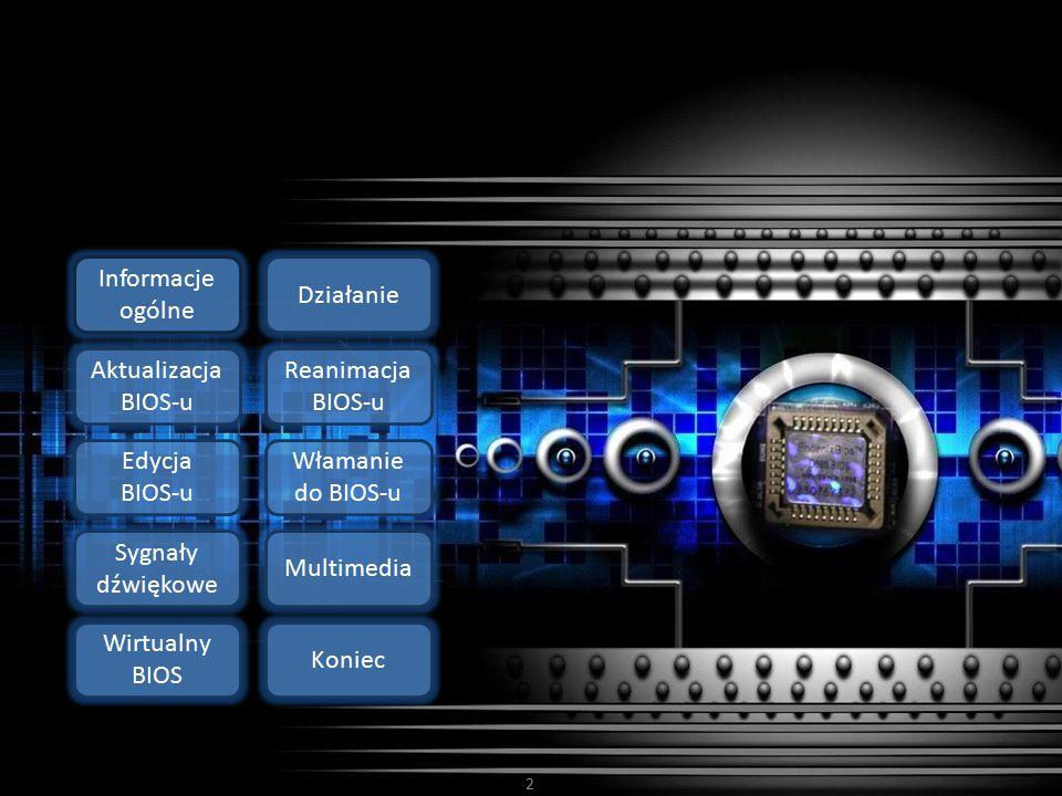 Informacje ogólne Działanie. Aktualizacja BIOS-u. Reanimacja BIOS-u. Edycja BIOS-u. Włamanie do BIOS-u.