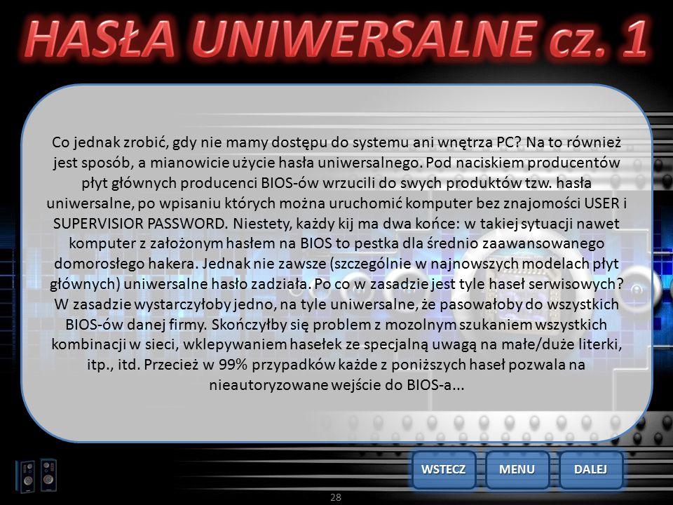 HASŁA UNIWERSALNE cz. 1