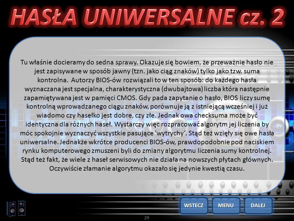 HASŁA UNIWERSALNE cz. 2