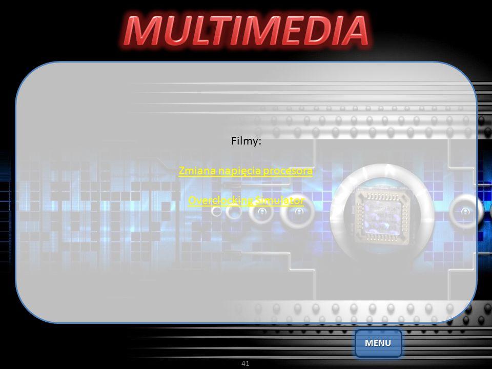 MULTIMEDIA Filmy: Zmiana napięcia procesora Overclocking Simulator