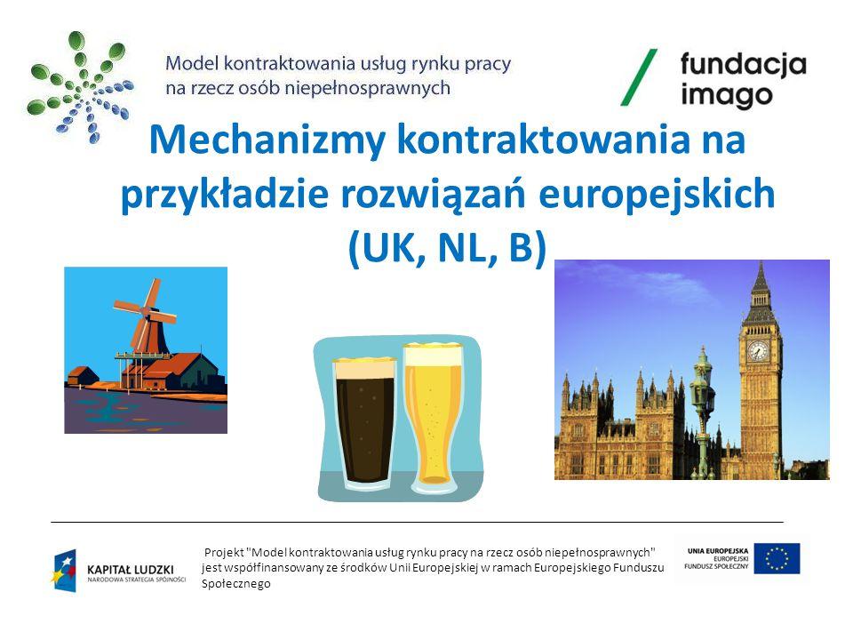 Mechanizmy kontraktowania na przykładzie rozwiązań europejskich (UK, NL, B)