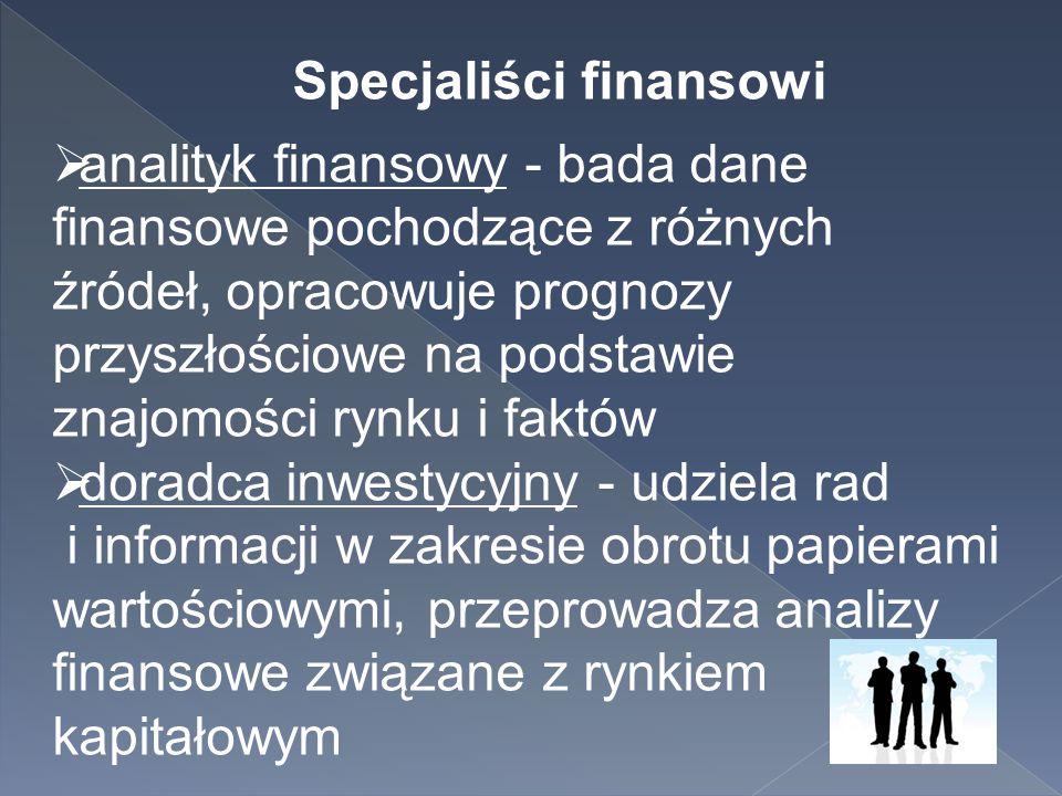 Specjaliści finansowi