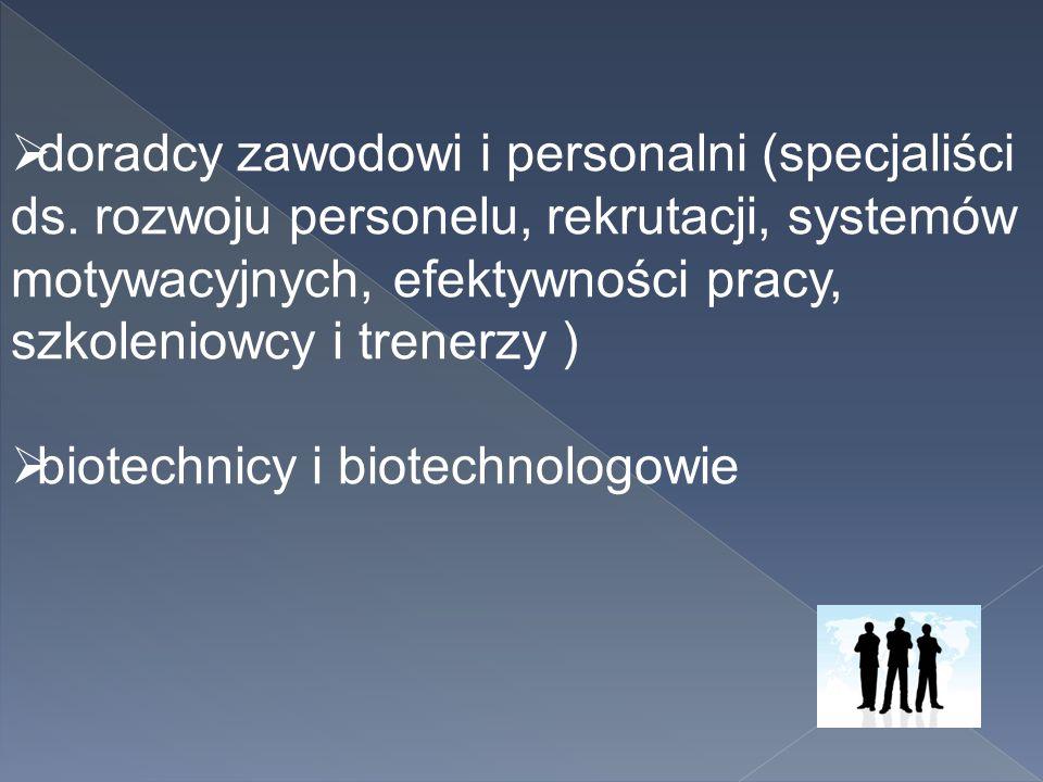 doradcy zawodowi i personalni (specjaliści ds