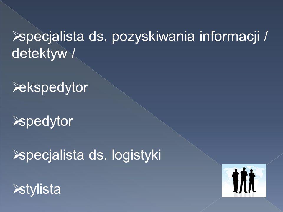 specjalista ds. pozyskiwania informacji / detektyw /