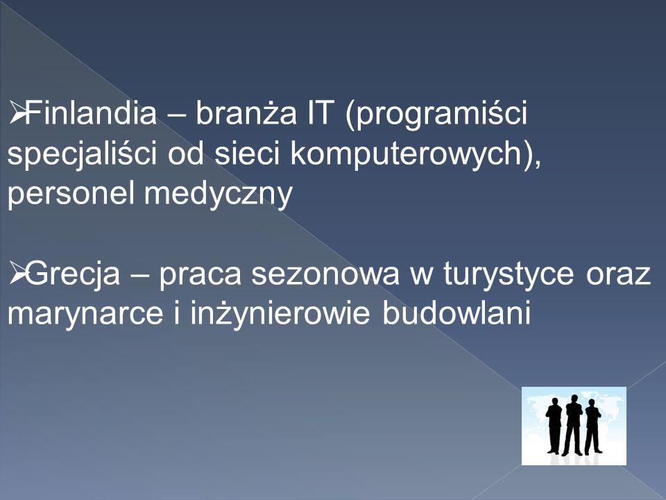 Finlandia – branża IT (programiści specjaliści od sieci komputerowych), personel medyczny