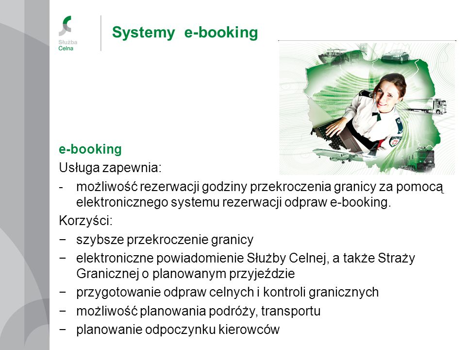 Systemy e-booking e-booking Usługa zapewnia: