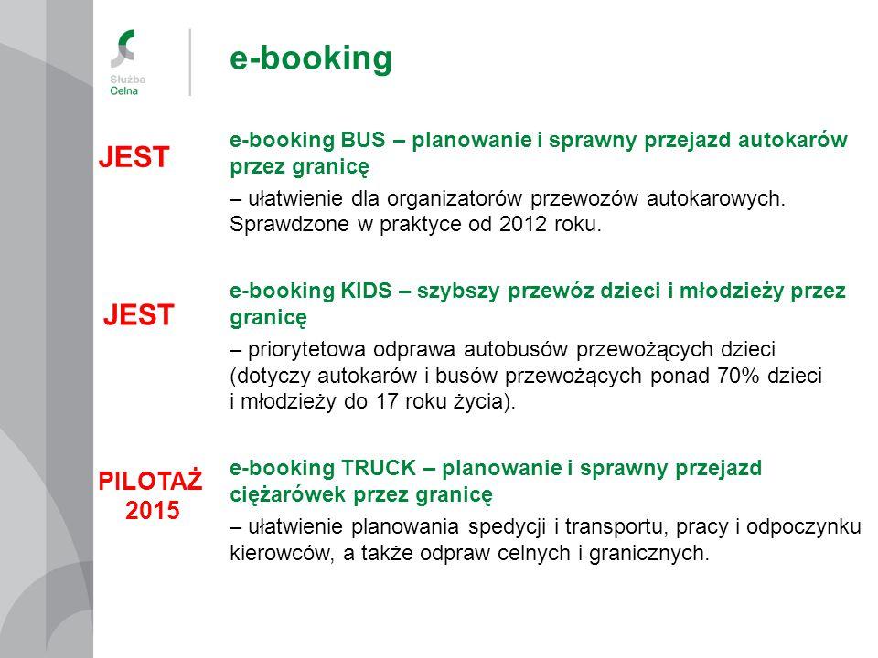 e-booking JEST JEST PILOTAŻ 2015
