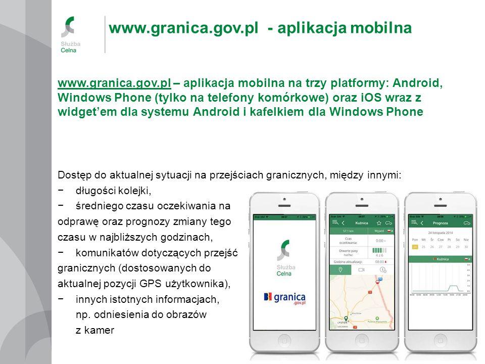 www.granica.gov.pl - aplikacja mobilna