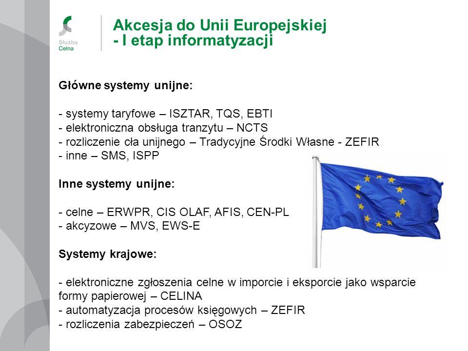Akcesja do Unii Europejskiej - I etap informatyzacji