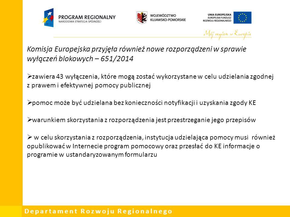 Komisja Europejska przyjęła również nowe rozporządzeni w sprawie wyłączeń blokowych – 651/2014