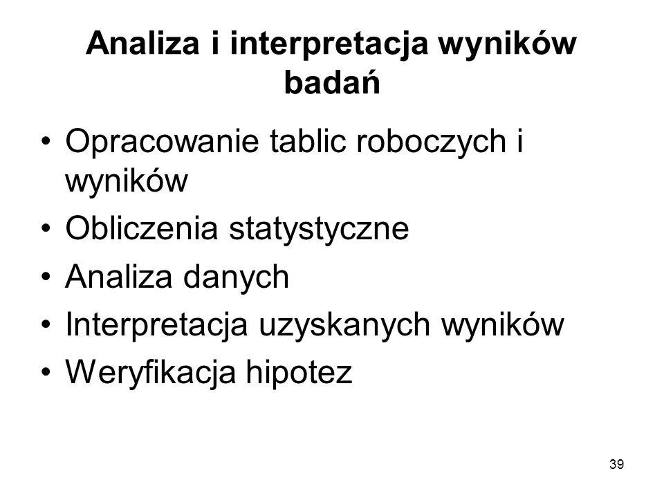 Analiza i interpretacja wyników badań