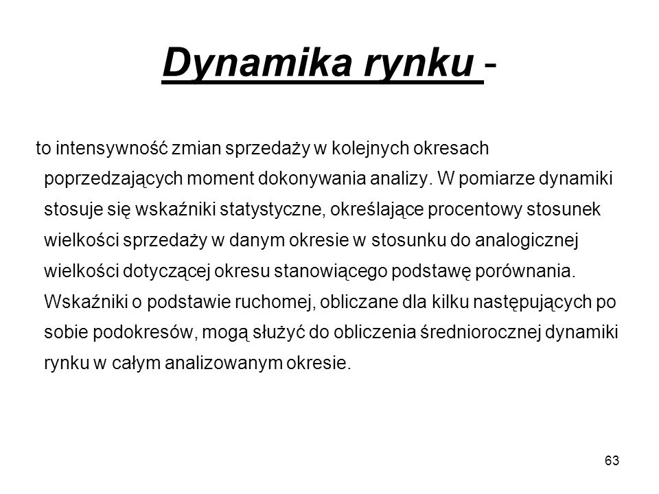 Dynamika rynku -