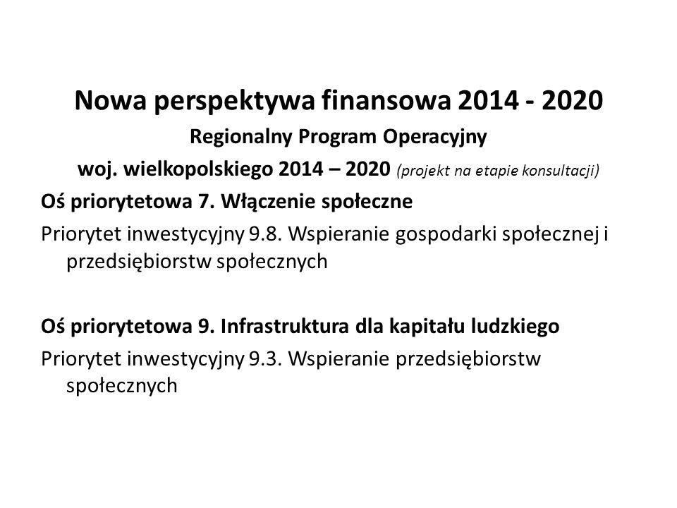 Nowa perspektywa finansowa 2014 - 2020
