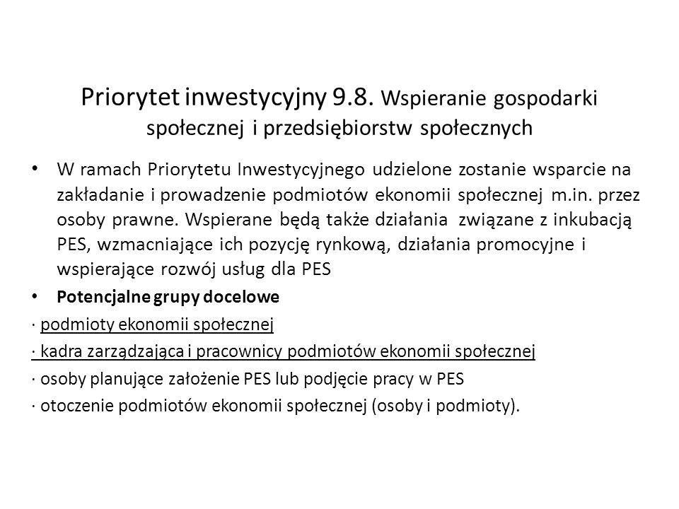 Priorytet inwestycyjny 9. 8