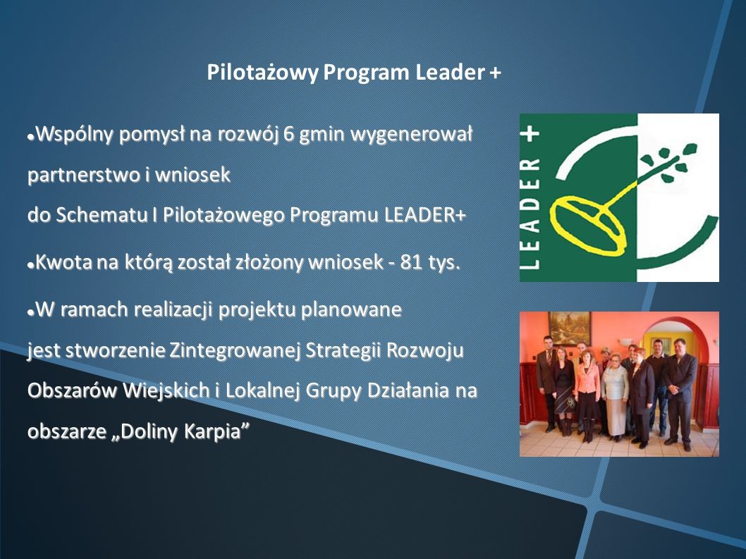 Pilotażowy Program Leader +