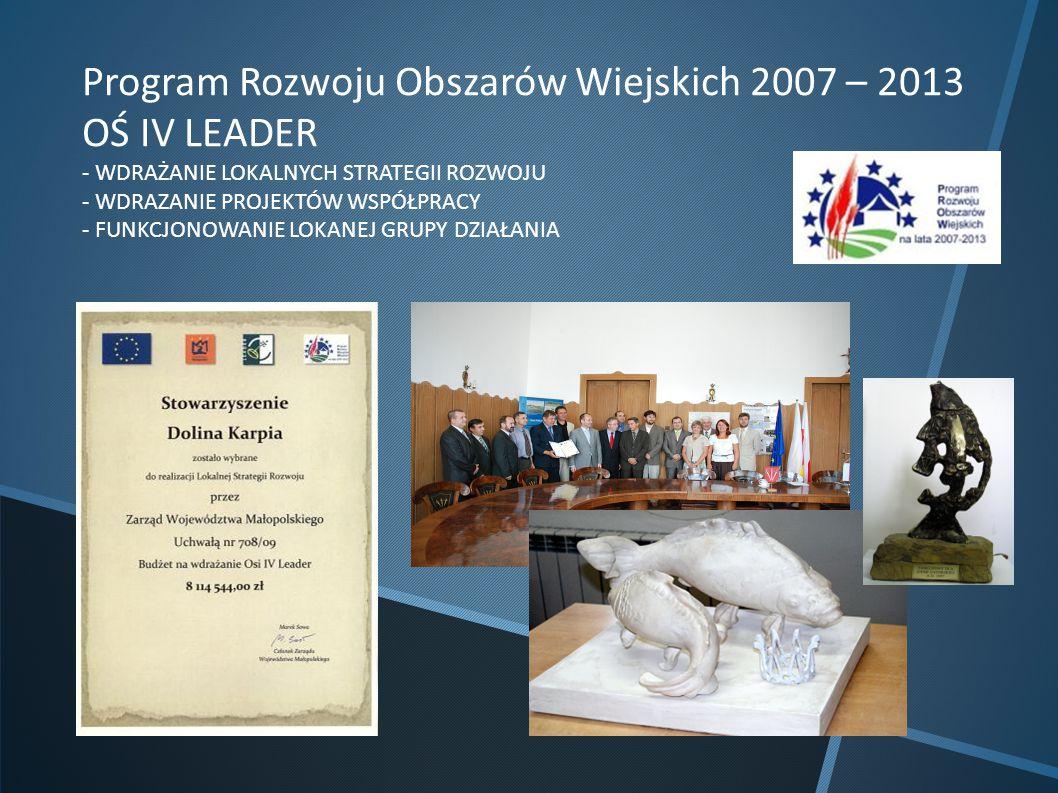 Program Rozwoju Obszarów Wiejskich 2007 – 2013 OŚ IV LEADER