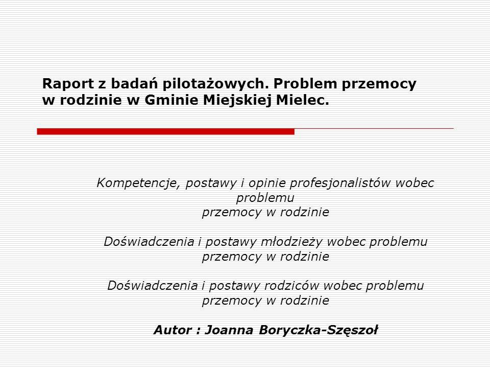 Autor : Joanna Boryczka-Szęszoł