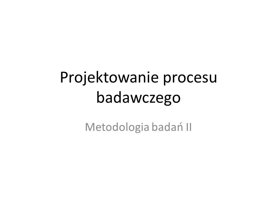 Projektowanie procesu badawczego