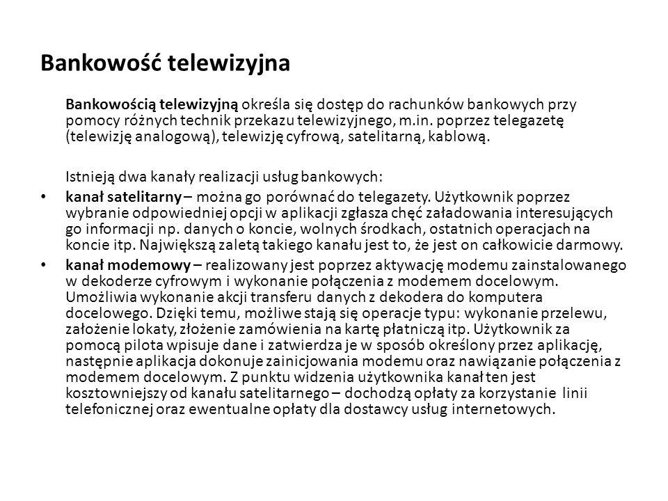 Bankowość telewizyjna