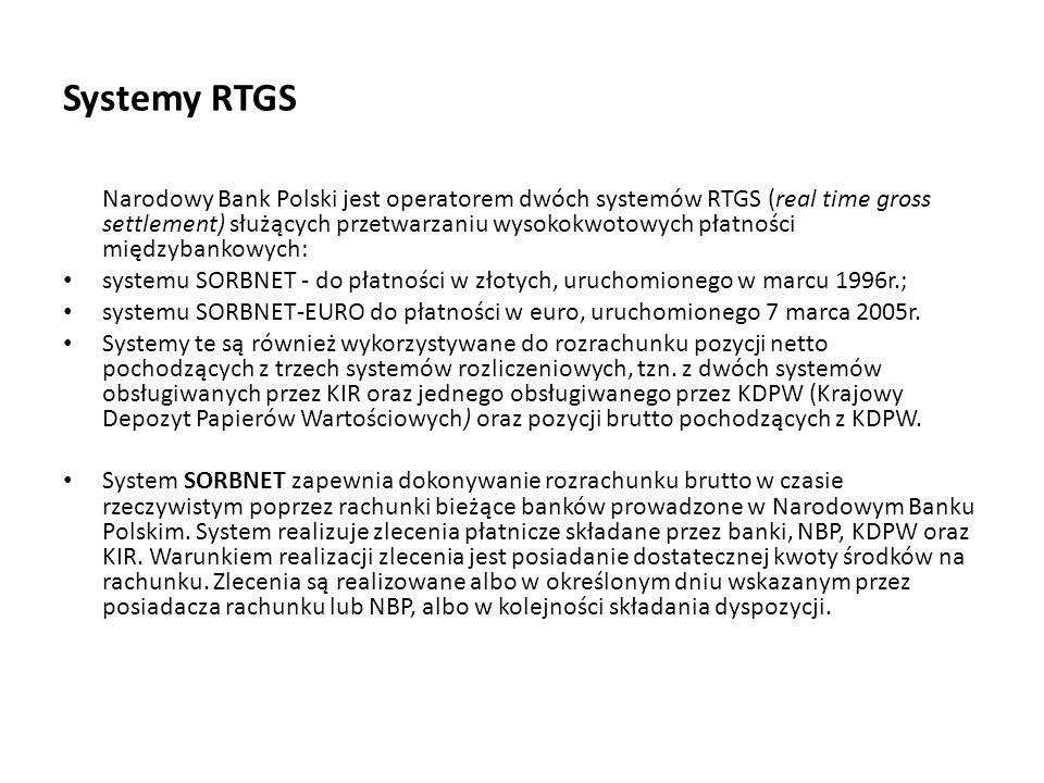 Systemy RTGS