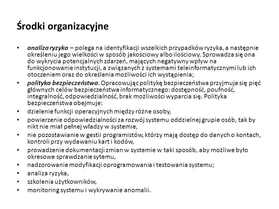 Środki organizacyjne