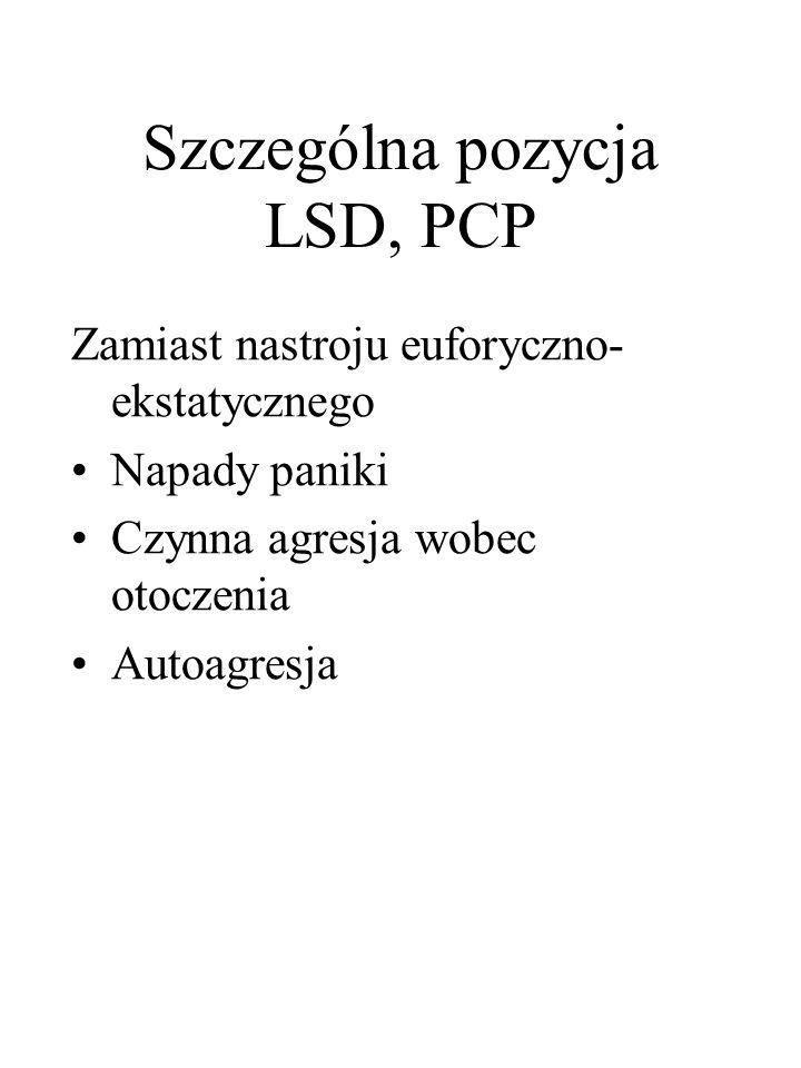 Szczególna pozycja LSD, PCP