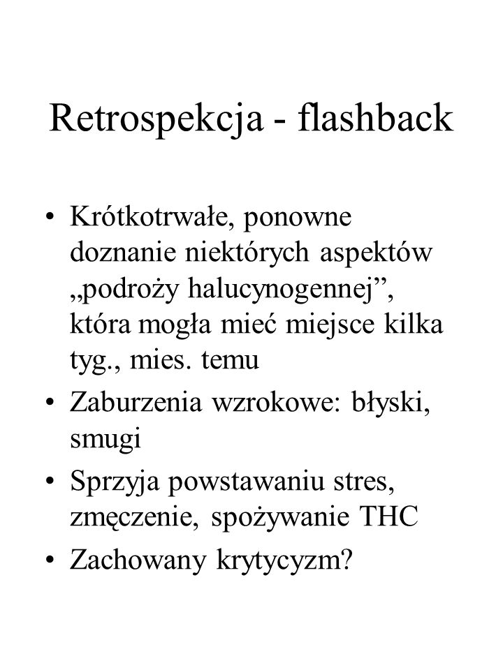 Retrospekcja - flashback