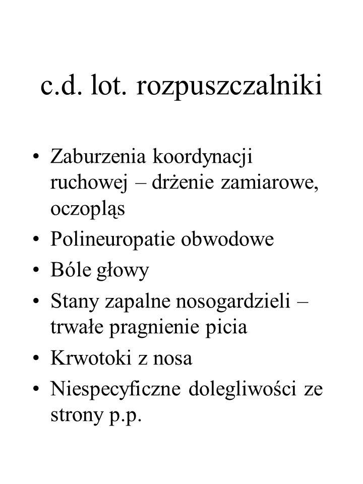 c.d. lot. rozpuszczalniki