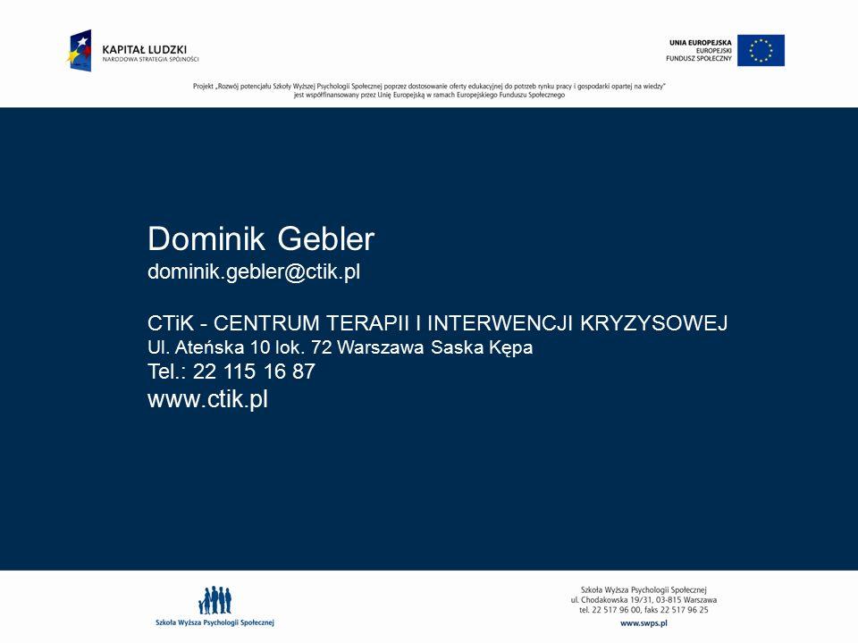 Dominik Gebler www.ctik.pl dominik.gebler@ctik.pl
