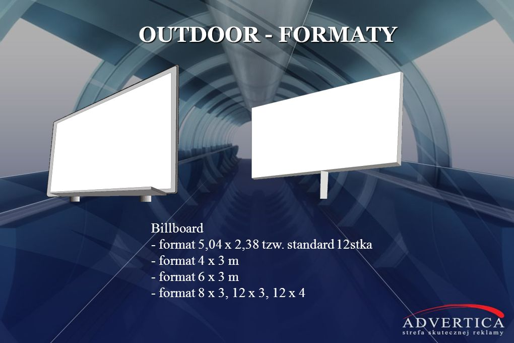 OUTDOOR - FORMATY Billboard - format 5,04 x 2,38 tzw.