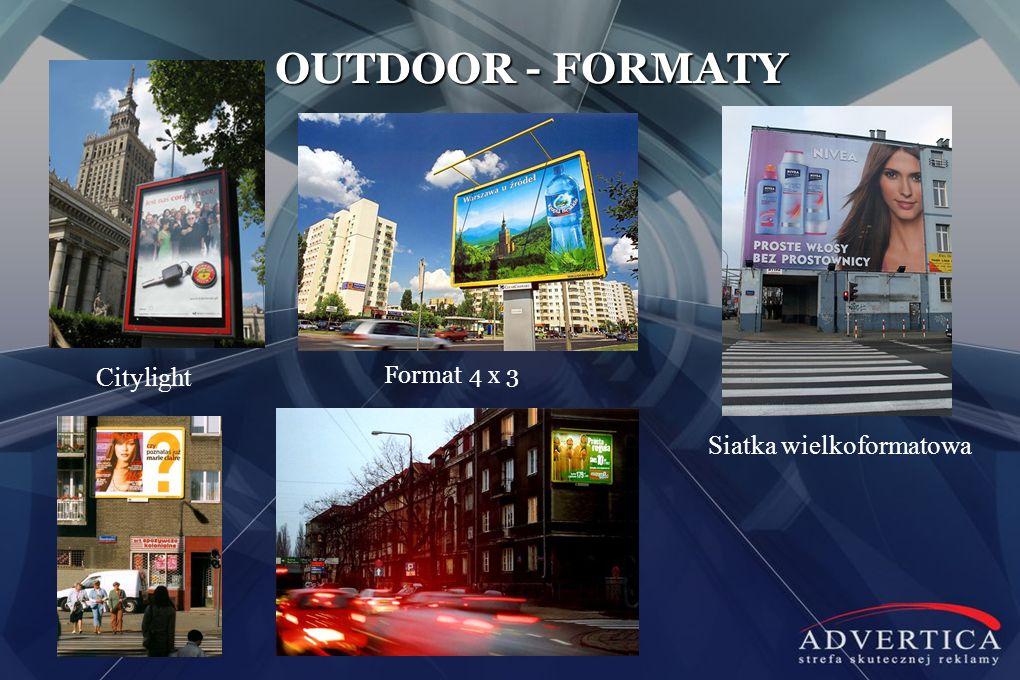OUTDOOR - FORMATY Citylight Format 4 x 3 Siatka wielkoformatowa