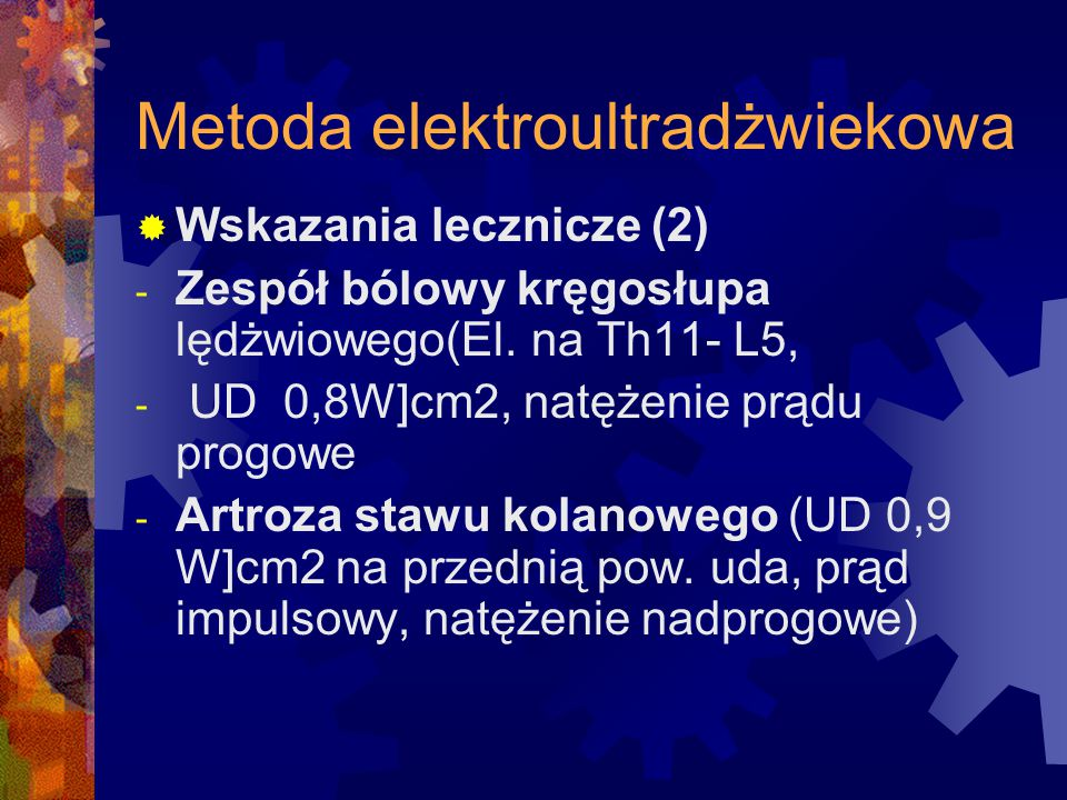 Metoda elektroultradżwiekowa