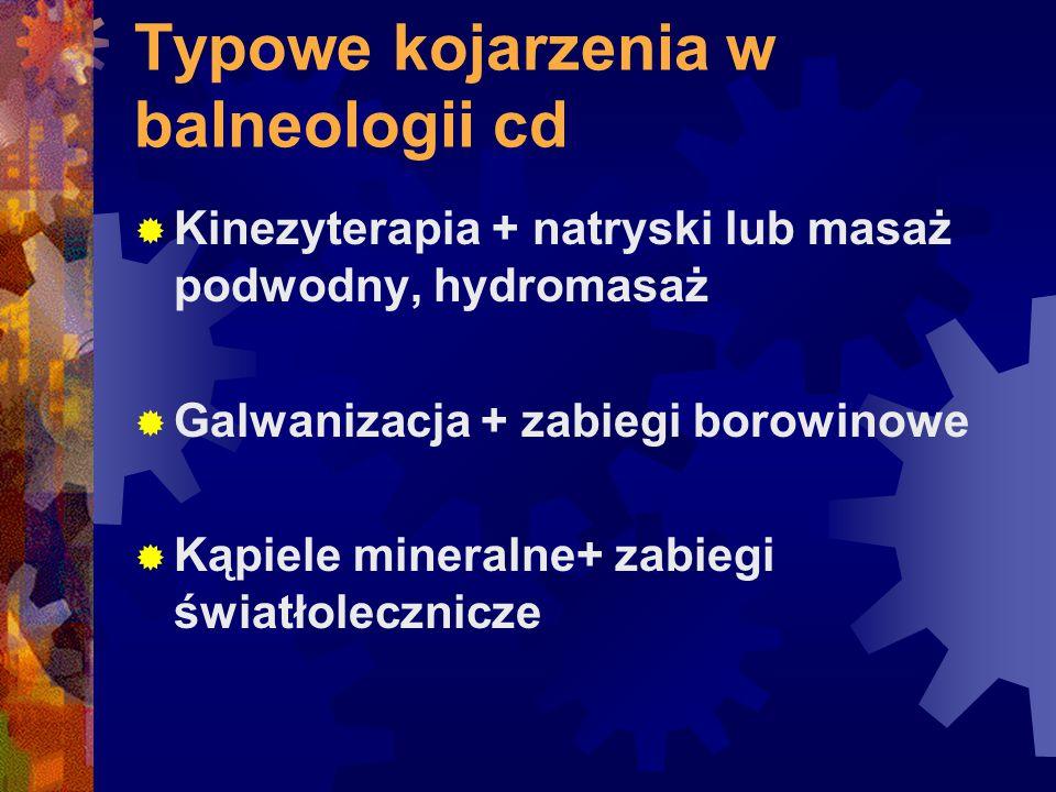 Typowe kojarzenia w balneologii cd