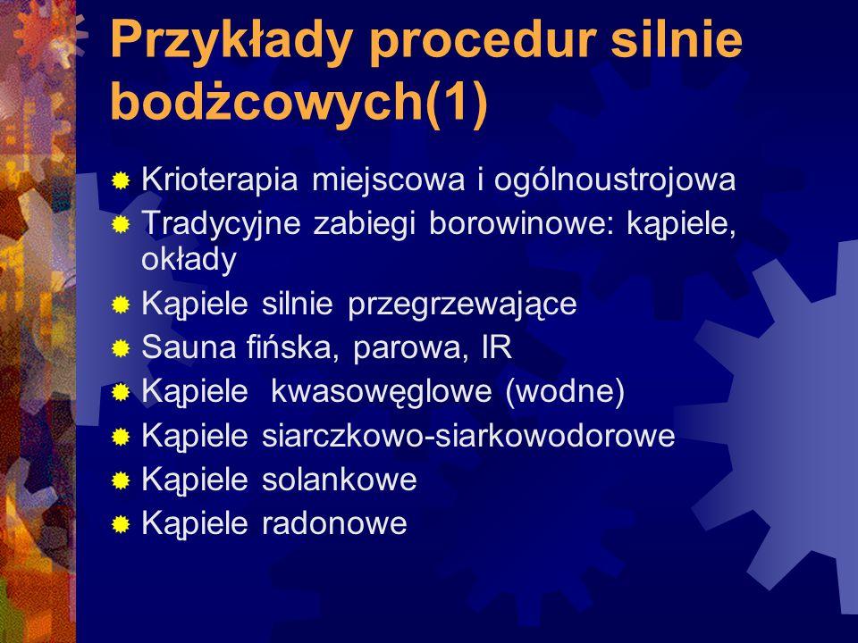 Przykłady procedur silnie bodżcowych(1)