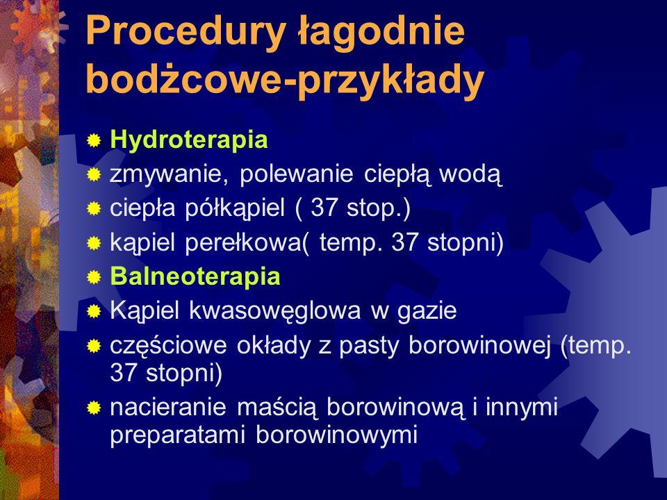 Procedury łagodnie bodżcowe-przykłady