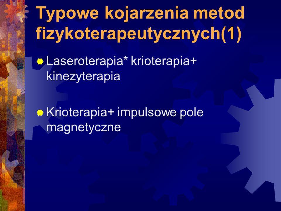 Typowe kojarzenia metod fizykoterapeutycznych(1)
