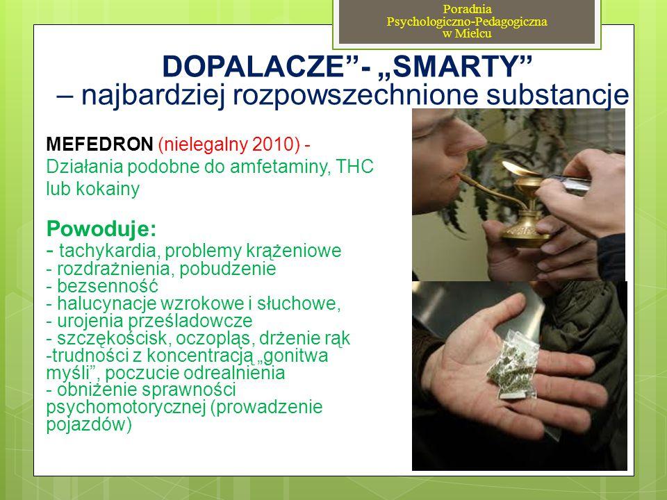 """""""DOPALACZE - """"SMARTY – najbardziej rozpowszechnione substancje"""