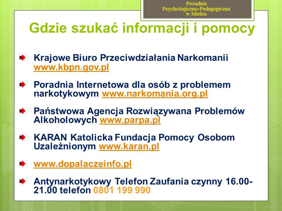 Gdzie szukać informacji i pomocy