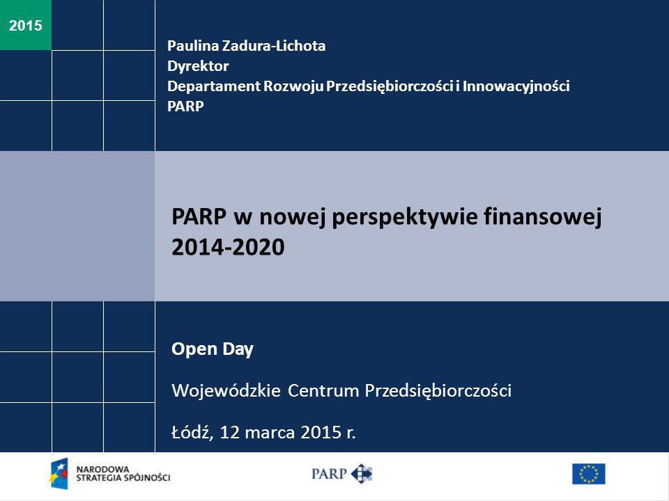 PARP w nowej perspektywie finansowej 2014-2020
