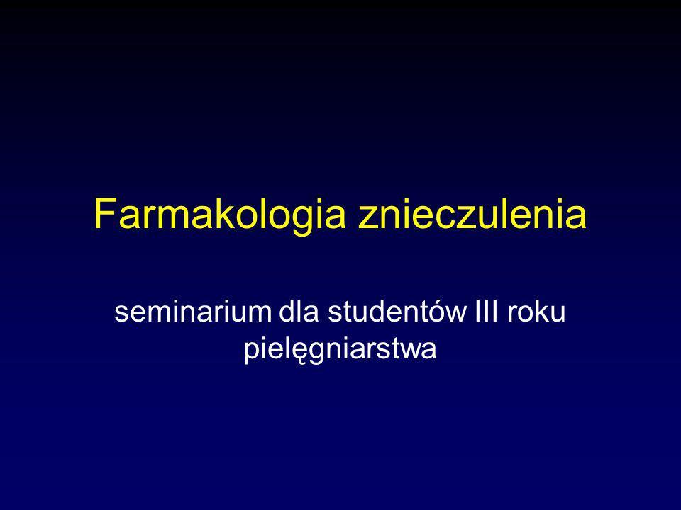 Farmakologia znieczulenia