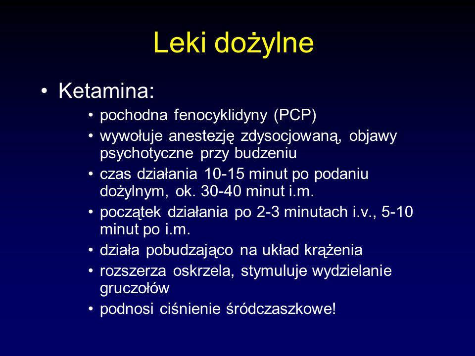 Leki dożylne Ketamina: pochodna fenocyklidyny (PCP)