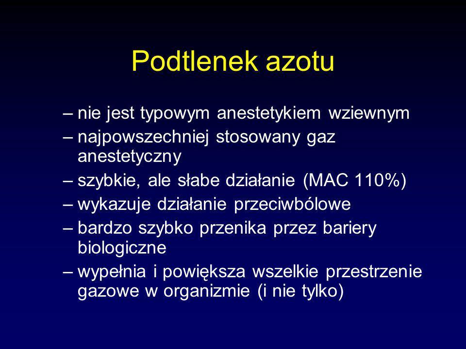 Podtlenek azotu nie jest typowym anestetykiem wziewnym