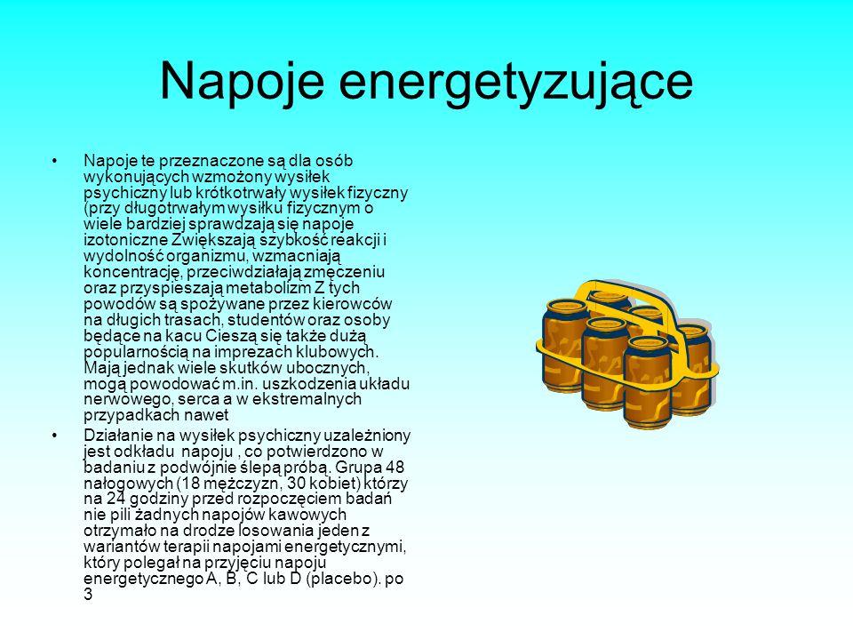 Napoje energetyzujące