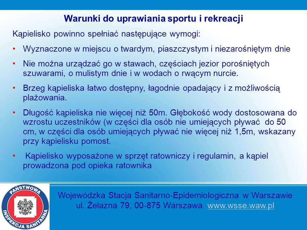 Warunki do uprawiania sportu i rekreacji