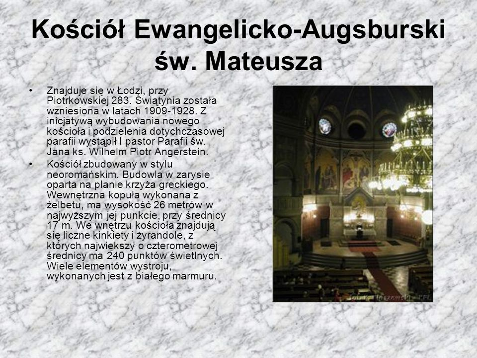 Kościół Ewangelicko-Augsburski św. Mateusza