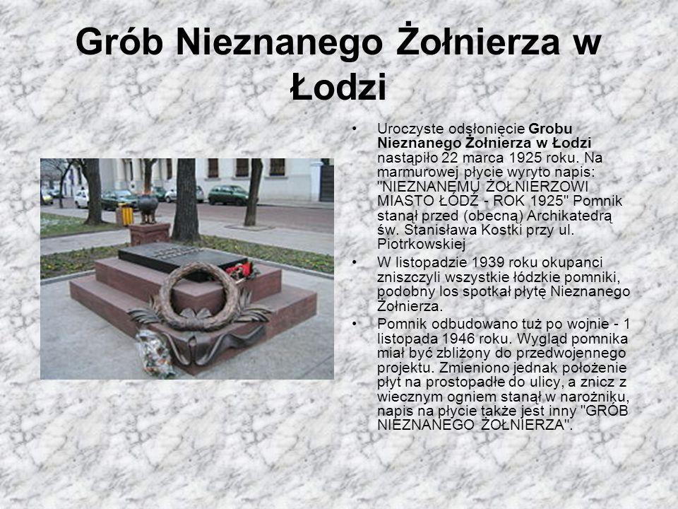 Grób Nieznanego Żołnierza w Łodzi