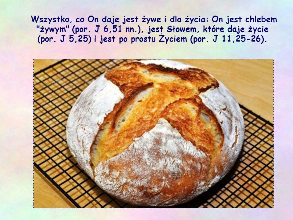 Wszystko, co On daje jest żywe i dla życia: On jest chlebem żywym (por.