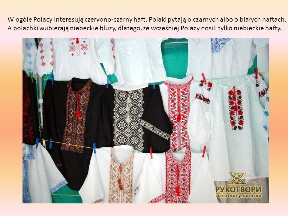 W ogόle Polacy interesują czervono-czarny haft